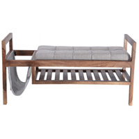 Scandi Brown Bench