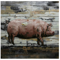 Country Pig Multicolor Wall Decor