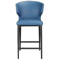 Delaney 39 inch Steel Blue Counter Stool