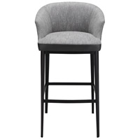 Beckett 38 inch Grey Bar Stool