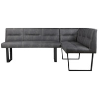 Hanlon Dark Grey Corner Bench