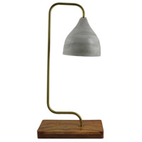 Moes Home Collection FD-1019-29 Delft 24 inch 25 watt Light Grey Table Lamp Portable Light