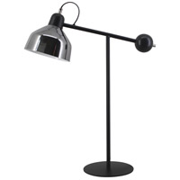 Moes Home Collection FD-1059-05 Sonny 26 inch 25 watt Matt Black/Black Wood/ Matt Brass Table Lamp Portable Light