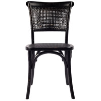 Moe's Home Collection FG-1001-02 Churchill Antique Black Dining Chair, Set of 2