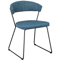 Moe's Home Collection HK-1010-50 Adria Blue Dining Chair, Set of 2