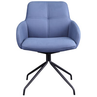 Kingpin Blue Swivel Chair
