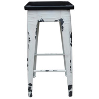 Sturdy 30 inch White Bar Stool