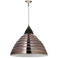 Moes Home Collection IP-1002-30 Simon 1 Light 21 inch Silver Pendant Ceiling Light