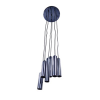 Moes Home Collection IP-1023-19 Tubular LED 1 Light 12 inch Carbon Blue Pendant Light Ceiling Light
