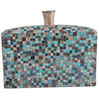 Moe's Home Collection IX-1077-28 Azul Mosaic 16 X 13 inch Vase