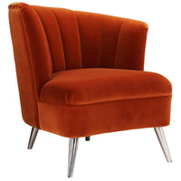 Layan Orange Accent Chair, Right