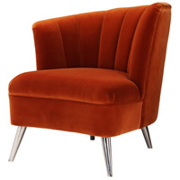 Layan Orange Accent Chair, Left
