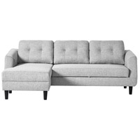 Belagio Light Grey Sofa Bed in Left, Left