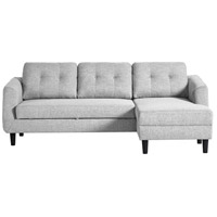 Belagio Light Grey Sofa Bed in Right, Right