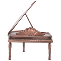 Baby Grand Piano Bronze Tabletop Accent