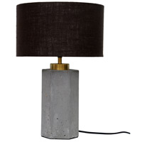 Moes Home Collection OD-1005-29 Pantheon 23 inch 60 watt Light Grey Table Lamp Portable Light