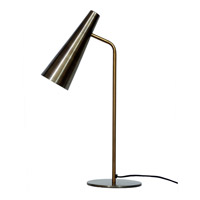 Moes Home Collection OD-1006-51 Trumpet 18 inch 6 watt Anitque Brass Table Lamp Portable Light