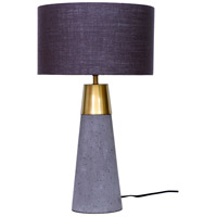 Moes Home Collection OD-1012-29 Savoy 25 inch 60 watt Light Grey Table Lamp Portable Light