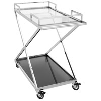 Moetini Silver Bar Cart