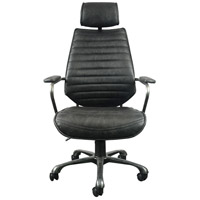 Moe's Home Collection PK-1081-02 Executive Black Office Chair