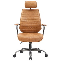 Moe's Home Collection PK-1081-23 Executive Cognac Swivel Office Chair