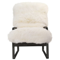 Moe's Home Collection PK-1104-18 Hanly White Accent Chair photo thumbnail