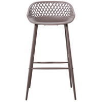 Piazza 37 inch Grey Outdoor Bar Stool, Set of 2