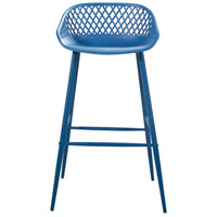 Piazza 37 inch Blue Outdoor Bar Stool, Set of 2