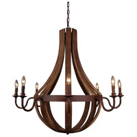 Moes Home Collection RM-1008-24 Pasquale 8 Light 41 inch Natural Pendant Ceiling Light