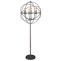 Moes Home Collection RM-1023-20 Rossana 66 inch 40 watt Brown Floor Lamp Portable Light