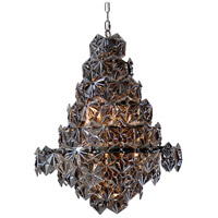 Moes Home Collection RM-1040-25 Swan 9 Light 24 inch Dark Grey Pendant Ceiling Light