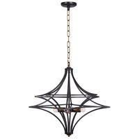 Moes Home Collection RM-1049-43 Sirius 4 Light 28 inch Brass Pendant Ceiling Light