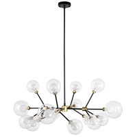 Moes Home Collection RM-1053-23 Andromeda 16 Light 39 inch Gold Pendant Light Ceiling Light