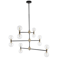 Moes Home Collection RM-1054-31 Centauri 12 Light 37 inch Bronze Pendant Light Ceiling Light