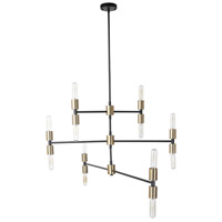 Moes Home Collection RM-1055-31 Gamma 12 Light 43 inch Bronze Pendant Light Ceiling Light