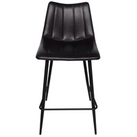 Alibi 37 inch Matte Black Counter Stool, Set of 2