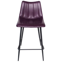 Alibi 37 inch Purple Counter Stool, Set of 2