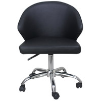Moe's Home Collection UU-1015-02 Albus Black Swivel Office Chair