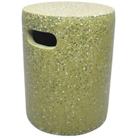 Pillar 17 inch Green Outdoor STool