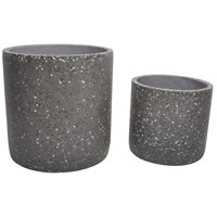 Kasvaa Grey Planter in White, Set of 2