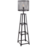 Moes Home Collection WK-1002-02 Creston 61 inch 100 watt Black Floor Lamp Portable Light