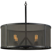 Moes Home Collection WK-1005-02 Selwyn 4 Light 28 inch Black Pendant Ceiling Light