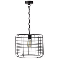 Moes Home Collection WK-1014-02 Hammersley 1 Light 15 inch Black Pendant Ceiling Light