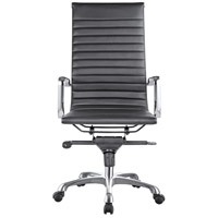 Moe's Home Collection ZM-1001-02 Omega Black High Back Office Chair