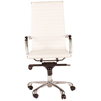 Moe's Home Collection ZM-1001-18 Omega White High Back Office Chair