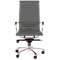 Moe's Home Collection ZM-1001-29 Omega Grey High Back Office Chair