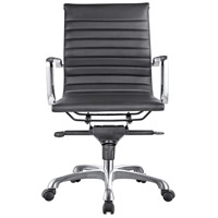Moe's Home Collection ZM-1002-02 Omega Black Low Back Office Chair