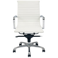 Moe's Home Collection ZM-1002-18 Omega White Low Back Office Chair