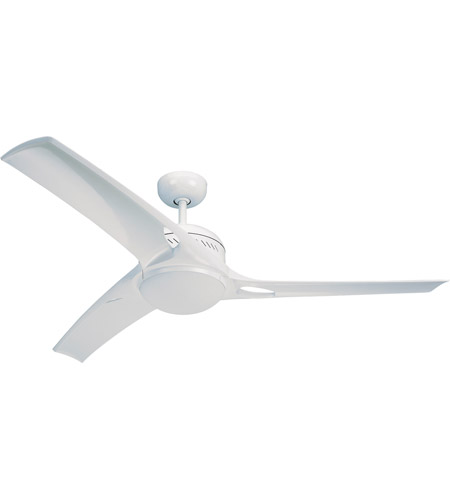 Monte Carlo Fans 3MO52WHO-L Mach One 52 inch White with White ABS Blades Ceiling Fan photo