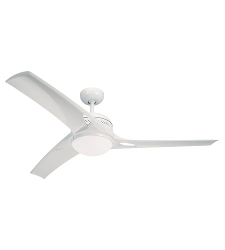 Monte Carlo Fan Company Mach One 1 Light Fan in White 3MO52WHO-L photo